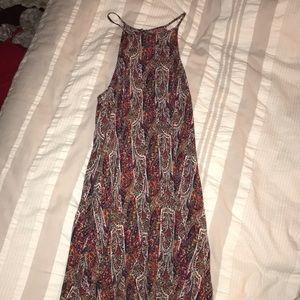 Halter mid length dress